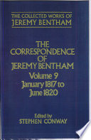 The Collected Works of Jeremy Bentham  Correspondence  Volume 9