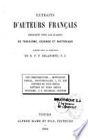 Extraits d auteurs fran  ais prescrits pour les classes de troisi  me  seconde et rh  torique