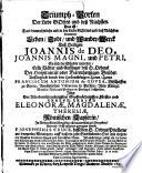Triumph Porten Das ist  Leben des h  Joannis de Deo