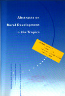 Abstracts On Rural Development In The Tropics