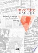 Invertito  Jahrbuch f  r die Geschichte der Homosexualit  ten   Invertito  18  Jahrgang 2016