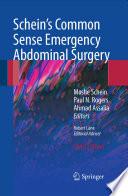 Schein S Common Sense Emergency Abdominal Surgery