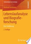Lebenslaufanalyse und Biografieforschung