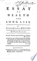 An Essay Of Health And Long Life The Ninth Edition