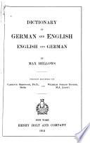 Dictionary of German   English  English   German