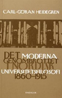 Det moderna genombrottet i nordisk universitetsfilosofi