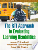 The Rti Approach To Evaluating Learning Disabilities