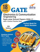 18 years GATE Electronics Engineering Topic wise Solved Papers  2000   17  with 4 Online Practice Sets 4th Edition
