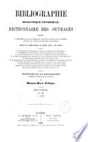 Bibliographie biographique universelle