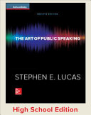 Student Edition  The Art of Public Speaking Reinforced Binding