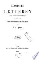 Noordsche letteren (talen, letterkunden, overzettingen) als vervolg op de Reisbrieven uit Dietschland en Denemark