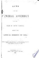 Acts of the General Assembly of South-Carolina