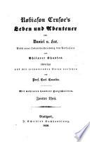 Robinson Crusoe's leben und abenteuer von Daniel v. Foe
