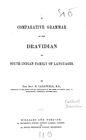Download Pdf A Comparative Grammar of the Dravidian Or South-Indian Family of Languages