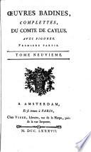 Œuvres Badines Complettes, Du Comte de Caylus