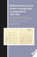 Raffaele Pettazzoni and Herbert Jennings Rose, Correspondence 1927–1958