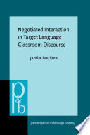 Negotiated Interaction in Target Language Classroom Discourse