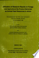 Utilization of Research Results on Forage and Agricultural By product Materials as Animal Feed Resources in Africa