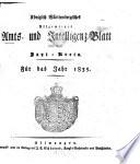 Königlich Württembergisches allgemeines Amts- und Intelligenz-Blatt für den Jaxt-Kreis