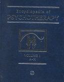 Encyclopedia Of Psychotherapy I Z book
