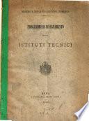 Programmi di insegnamento per gli istituti tecnici
