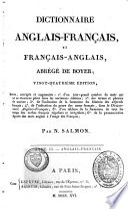 Dictionnaire fran  ais anglais et anglais fran  ais  abr  g