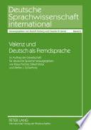 Valenz und Deutsch als Fremdsprache
