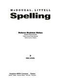 McDougal Littell Spelling