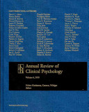 Annual Review Of Clinical Psychology 2010 book