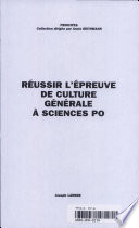 R  ussir l   preuve de culture g  n  rale    Sciences Po