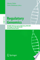 Regulatory Genomics book