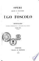 Opere edite e postume di Ugo Foscolo