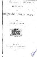 Le roman au temps de Shakespeare