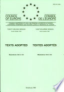 Texts Adopted
