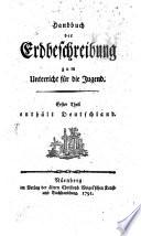 Handbuch der Erdebeschreibung