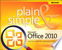 Microsoft Office 2010 Plain   Simple
