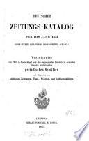Deutscher Zeitungs-Katalog
