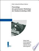Proceedings des gemeinsamen Workshops der Graduiertenkollegs 2008