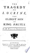 The Tragedy Of Locrine