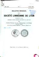 Bulletin mensuel de la Société linnéenne de Lyon