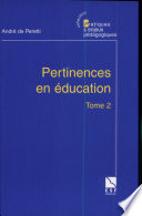 Pertinences en éducation