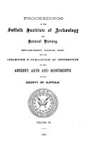 Proceedings of the Suffolk Institute of Archaeology