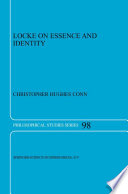 Locke On Essence And Identity book