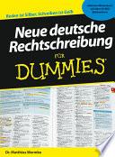 Neue deutsche Rechtschreibung f  r Dummies