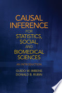 Causal Inference in Statistics  Social  and Biomedical Sciences