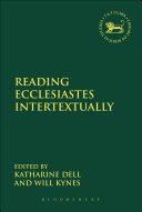 download ebook reading ecclesiastes intertextually pdf epub