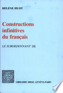 Constructions infinitives du fran  ais