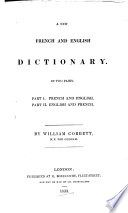 A New French   English Dictionary