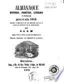 Almanaque histórico, profético, literario y popular para el año 1848