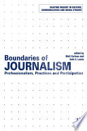 Boundaries of Journalism In The Study Of Journalism In Recent